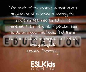 Noam Chomsky quotes on teaching