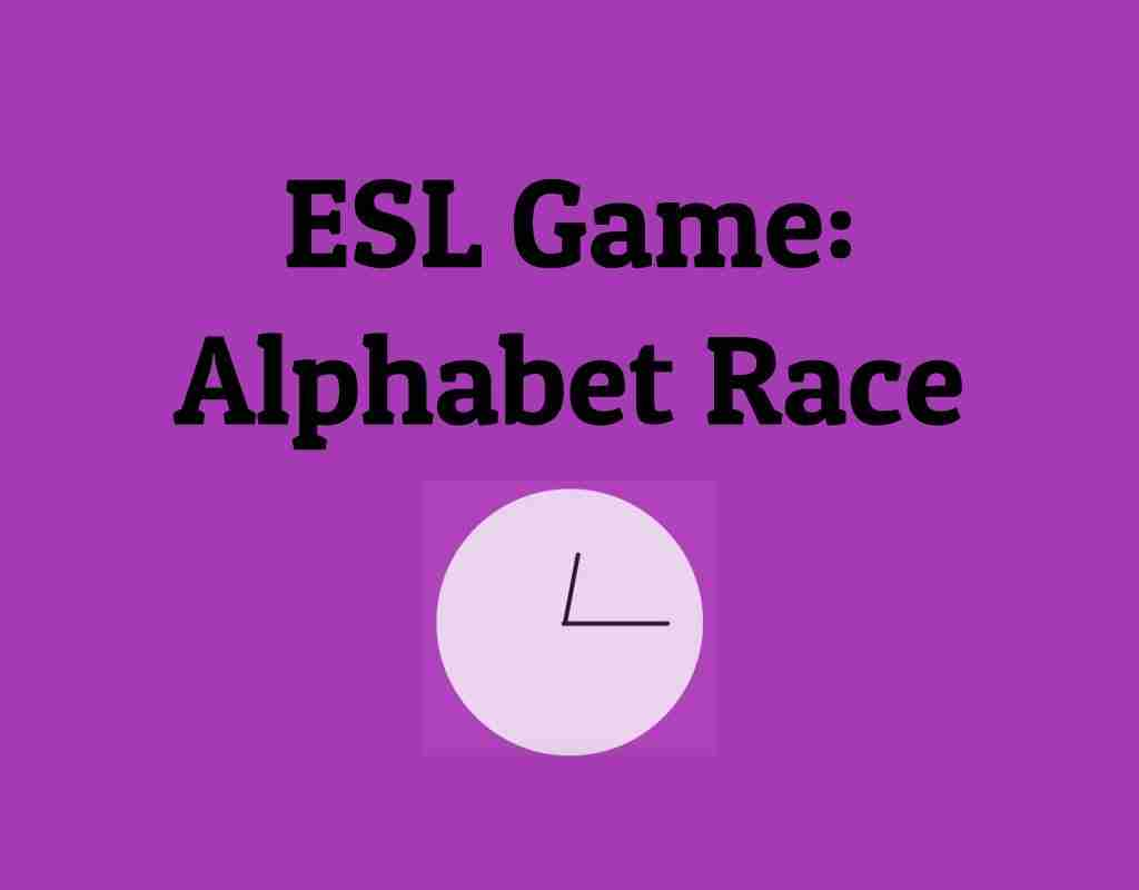 ESL Game Alphabet Race