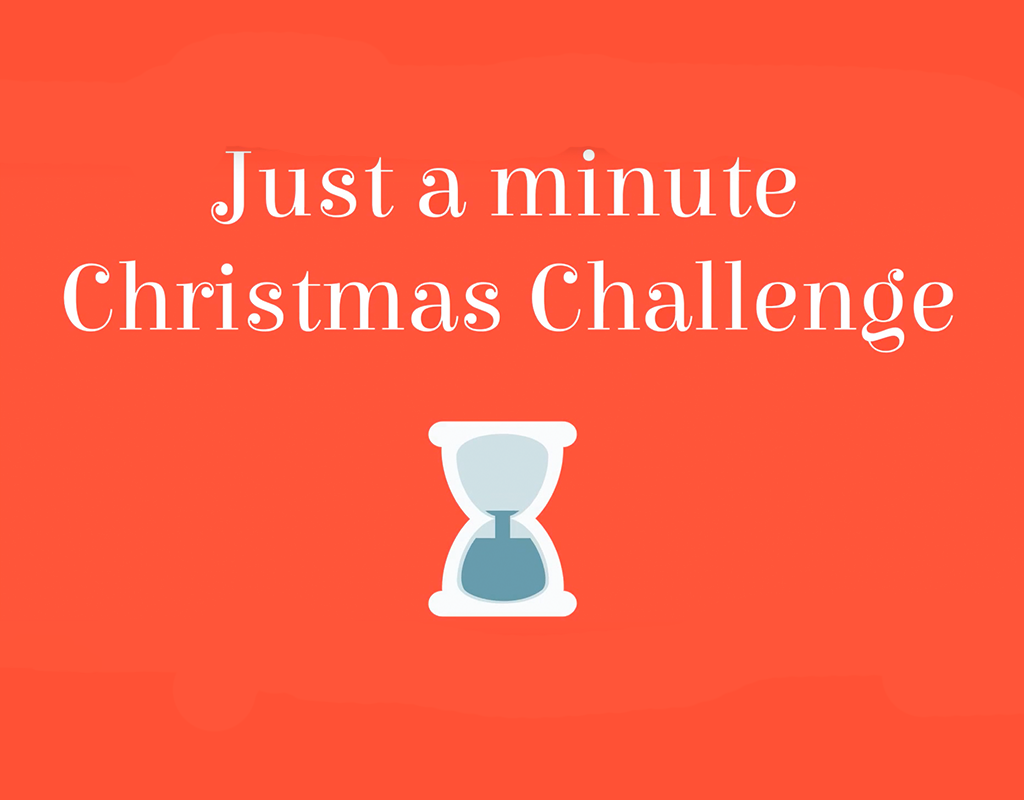 Just a minute Christmas challenge